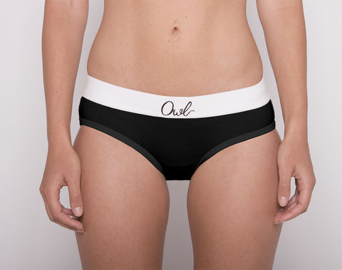 COLORFUL,-2ND-,BLACK,underwear, woman, ecologic, Sustainable, Organic , Undyed,  Cotton , Owl underwear, ropa interior, mujer, organico, ecologico, organica, ecologica, Negro, Black