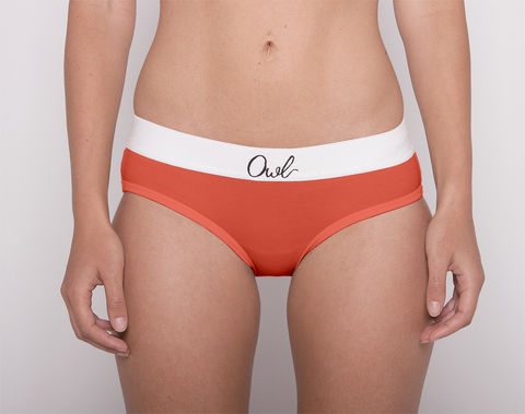COLORFUL,-2ND-,ORANGE,underwear, woman, ecologic, Sustainable, Organic , Undyed,  Cotton , Owl underwear, ropa interior, mujer, organico, ecologico, organica, ecologica, Orange, naranja
