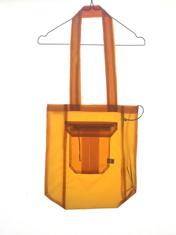 GLIDER_TOTE,BAG_ORANGE-ISH,YELLOW,recycled, parachutes, paraglider, kitesurf, tote, bag, fashion, hoddie, man, wear , sustainable, ecologic, design, reciclado, parapente, paracaidas, velas, bolsa, moda, hombre, ropa, eco fiendly, ecologica, sostenible, diseño