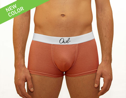 COLORFUL,-9TH-,TERRACOTA,underwear, men, man, ecologic, Sustainable, Organic , Undyed,  Cotton , Owl underwear, ropa interior, hombre, organico, ecologico, organica, ecologica, calzoncillos, boxers, trunks, terracota, ornage, naranja