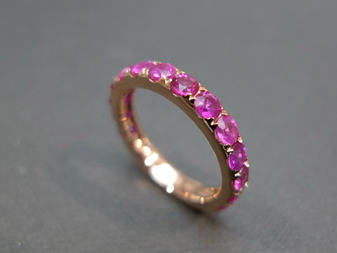 Pink,Sapphire,Wedding,Band,Weddings, Jewelry, Ring, wedding band, engagement ring, wedding gift, rose gold, natural sapphire, pink sapphire ring, pink color ring, pink sapphire
