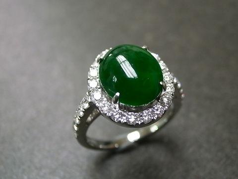 jadediamondringweddings jewelry ring white gold jade green anniversary jadeite classic - Jade Wedding Ring