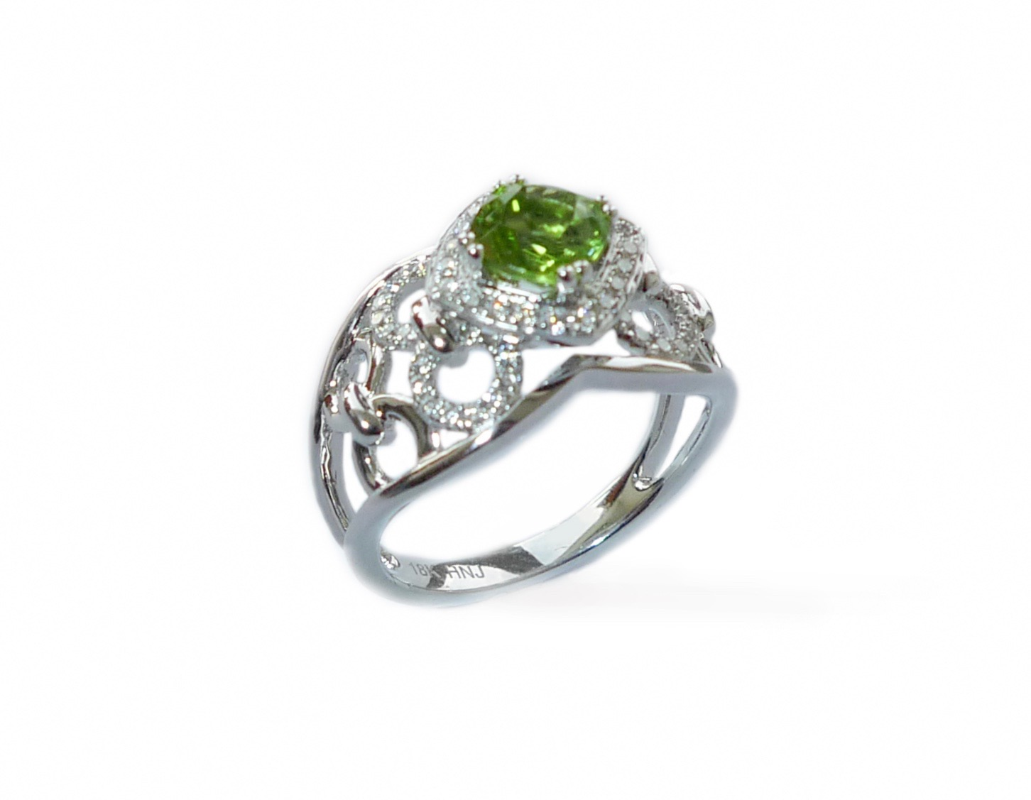 peridot diamond engagement wedding band ring