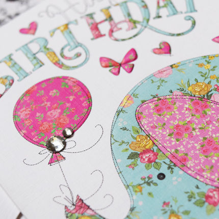 buy pretty handfinished birthday cards for her online