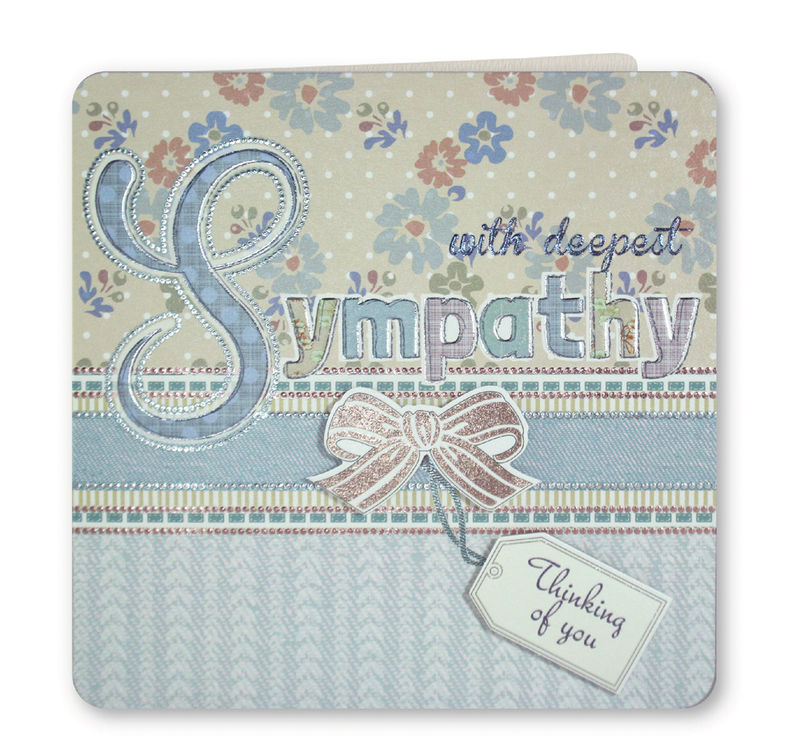 Hand Finished With Deepest Sympathy Card - product images  of