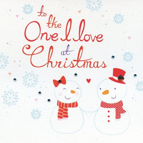 Hand Finished To The One I Love At Christmas Card Karenza Paperie