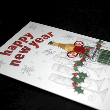 Hand Finished Happy New Year Card - product images  of