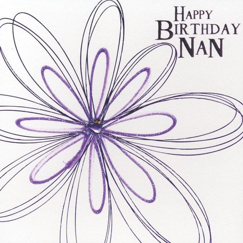 Hand,Finished,Nan,Birthday,Card,buy nan birthday card online, birthday card for nan, nanny card, card for nanny, nan card, card for nan, grandparent birthday card