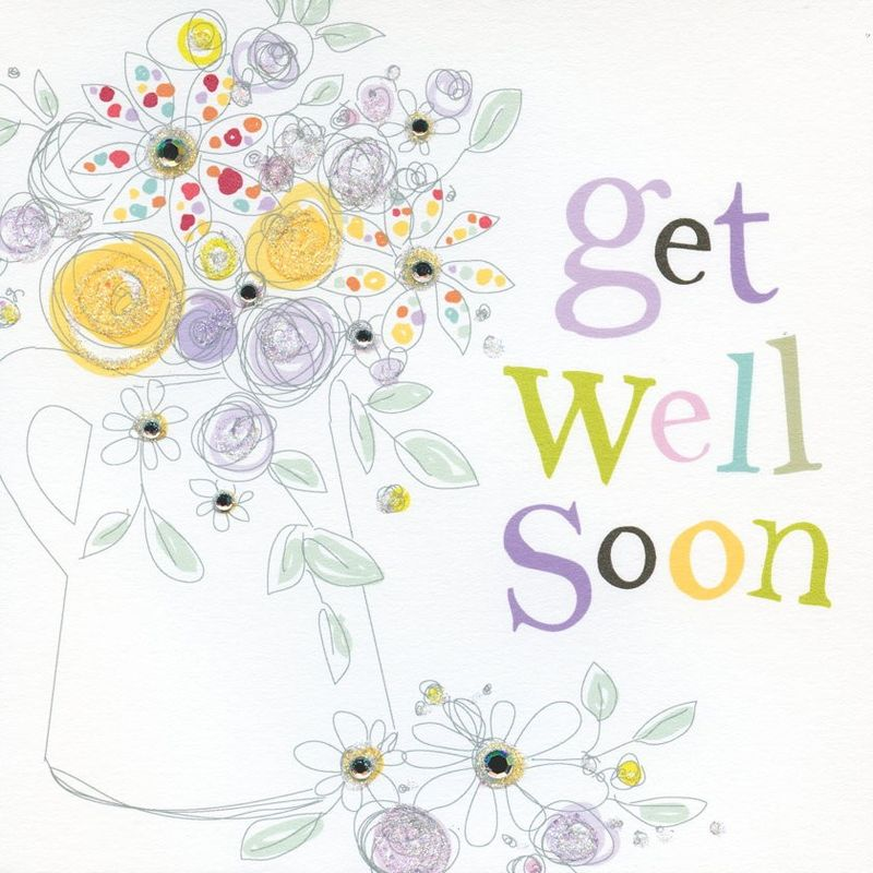 Hand Finished Get Well Soon Card - product images