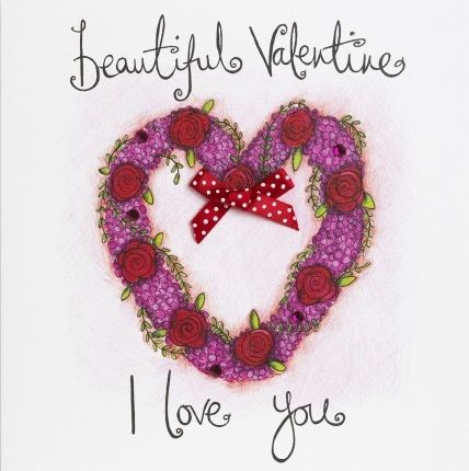 Hand,Finished,Beautiful,Valentine,Valentine's,Day,Card,buy valentines day card online, buy cards for valentines day card online, valentine cards, one i love valentines day card, one i love card, partner card for valentines day, buy beautiful valentine card, roses valentines card, heart valentine card