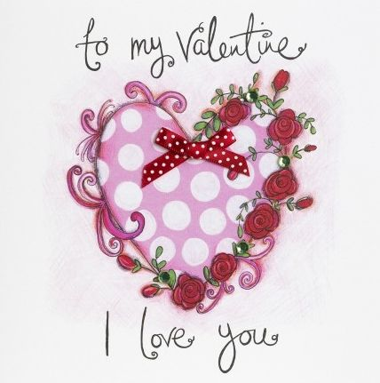 Hand,Finished,To,My,Valentine,Valentine's,Day,Card,buy valentines day card online, buy cards for valentines day card online, valentine cards, one i love valentines day card, one i love card, partner card for valentines day, heart valentine card, dotty heart card, roses valentines card