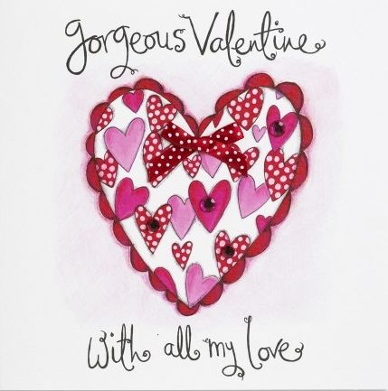 Hand Finished Gorgeous Valentine Valentine's Day Card - product images  of