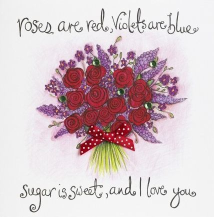 Hand,Finished,Roses,Are,Red,Love,Card,buy valentines day card online, buy to my valentine card online, , love card, roses are red, violets are blue card, card for anniversary, card for the one i love, valentine card, card for valentine