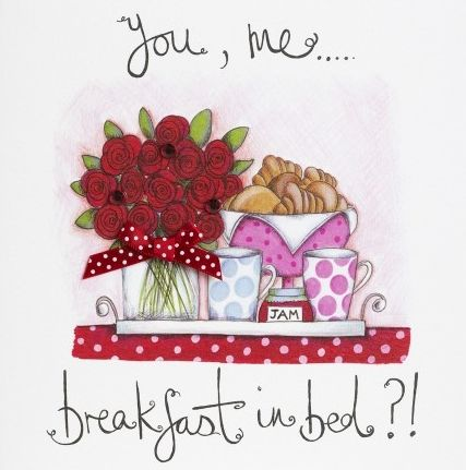 Hand,Finished,Breakfast,In,Bed,Love,Card,buy valentines day card online, buy cards for valentines day card online, valentine cards, one i love valentines day card, one i love card, partner card for valentines day