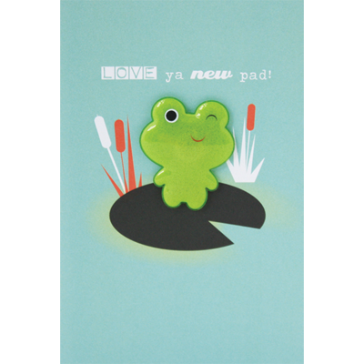New Pad Frog Magnet Card - New Home Card - product images