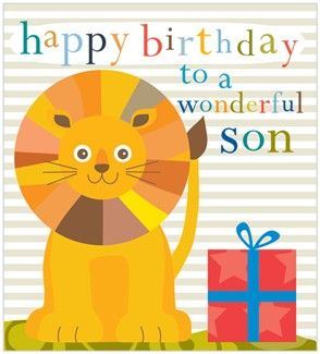 Lion,Son,Birthday,Card,buy son birthday card online, buy birthday cards for sons, son birthday card, son card, happy birthday son card, lion son card, card for son, childs son birthday card