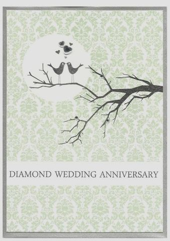 Love,Birds,Diamond,Wedding,Anniversary,Card,buy diamond anniversary card online, diamond wedding anniversary card, cards for wedding anniversaries, diamond wedding anniversary cards, card for 60th wedding anniversary, sixtieth anniversary card
