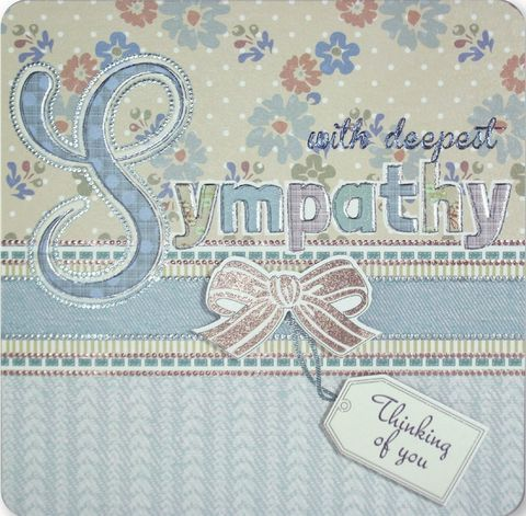 Hand,Finished,With,Deepest,Sympathy,Card,buy with sympathy card online, buy deepest condolences card online, bereavement card, card for sympathy, deepest sympathy card, thinking of you card, condolences card