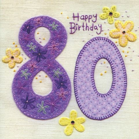 Hand,Finished,80th,Birthday,Card,buy 80th birthday card for her online, buy female age eighty birthday cards online, age 80 card, eightieth birthday card, female 80th birthday card, floral 80th birthday card, eightieth birthday card with flowers