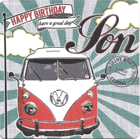 Hand,Finished,Son,Birthday,Card,buy son birthday card online, buy birthday cards for sons online, son card, card for son, boys birthday card, camper van birthday card, retro birthday card, car birthday card, vdub birthday card