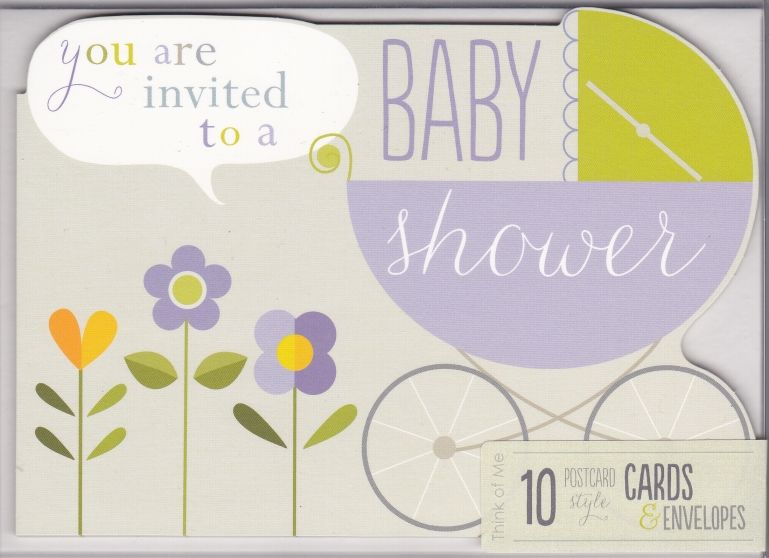 Pack of 10 Baby Shower Invitations - product images  of