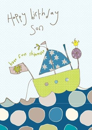 Son Boat Birthday Card - product images