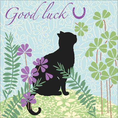 Black,Cat,Good,Luck,Card,buy good luck cards online. buy black cat good luck card, cards for good luck, good luck in exams card, clover good luck card, horseshoe good luck card