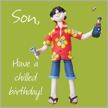 Son,Chilled,Birthday,Card,buy son birthday card online, card for son, cards for sons, son card, chilled birthday card, funny son birthday card, fun son birthday card, birthday beer card,
