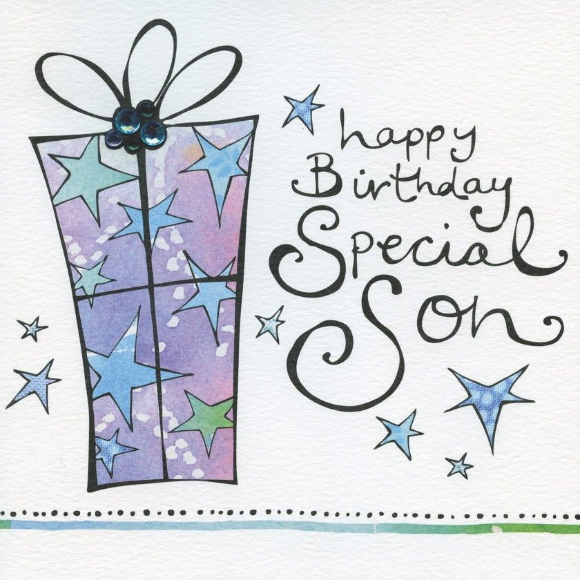Special Son Present Birthday Card