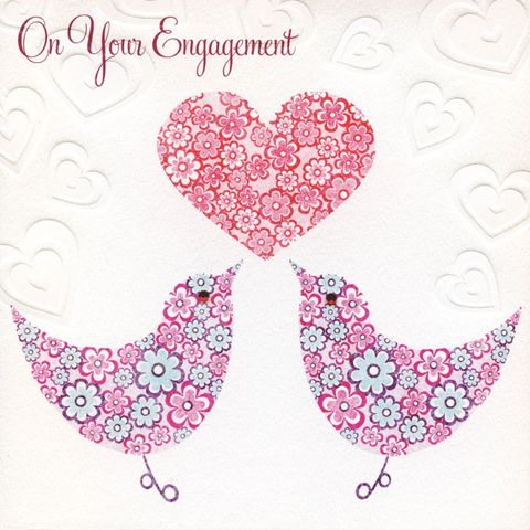 Birds,and,Heart,Engagement,Card,buy engagement card online, love birds engagement card, you are engaged card, cards for engagements, on your engagement card, engagement cards