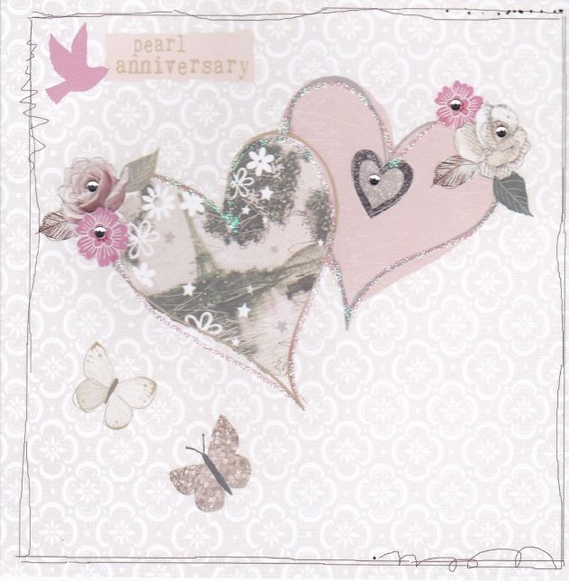 Ideas For Pearl Wedding Anniversary Gifts: Pearl Wedding Anniversary Card