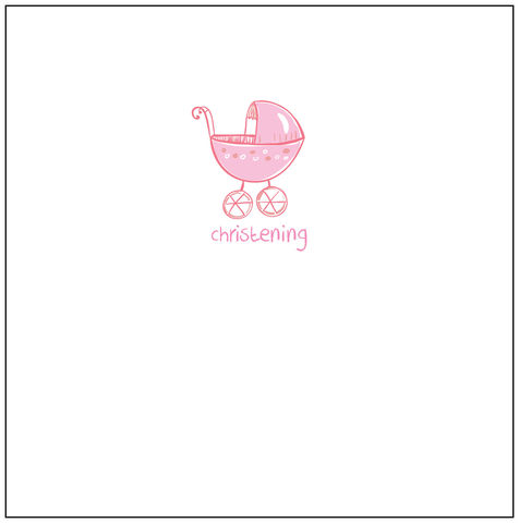 Pack,of,5,Christening,Invitations,-,Pink,Pram,Design,buy christening invitations online, invites for christenings, baby girls christening day invites, invites for christening day, baby's christening day invitations