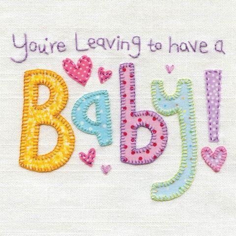 Hand,Finished,Leaving,To,Have,A,Baby,Card,buy leaving to have a baby card online, buy you are leaving card online, buy maternity leave card online, buy happy pregnangy card online, buy mum to be card online, baby shower card, leaving card, card for leaving, baby news card, happy pregnancy card, l