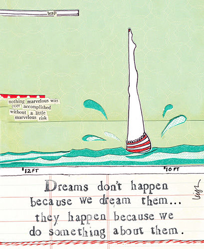 Dreams Don't Happen Because We Dream Them Card - Curly Girl Design Card - product images