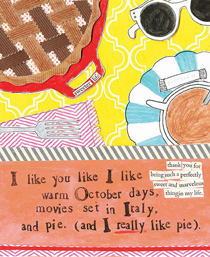 I Like Pie Card -  Curly Girl Design Card - product images
