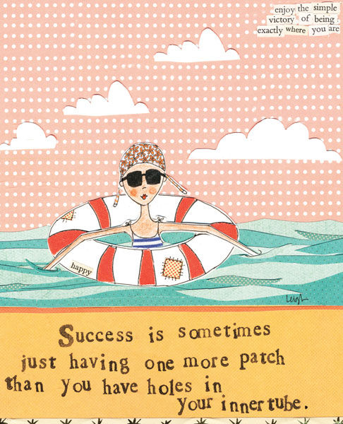 Success Is... Card - Curly Girl Design Card - product images