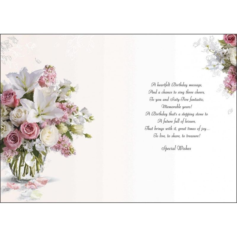 Floral 65th Birthday Card