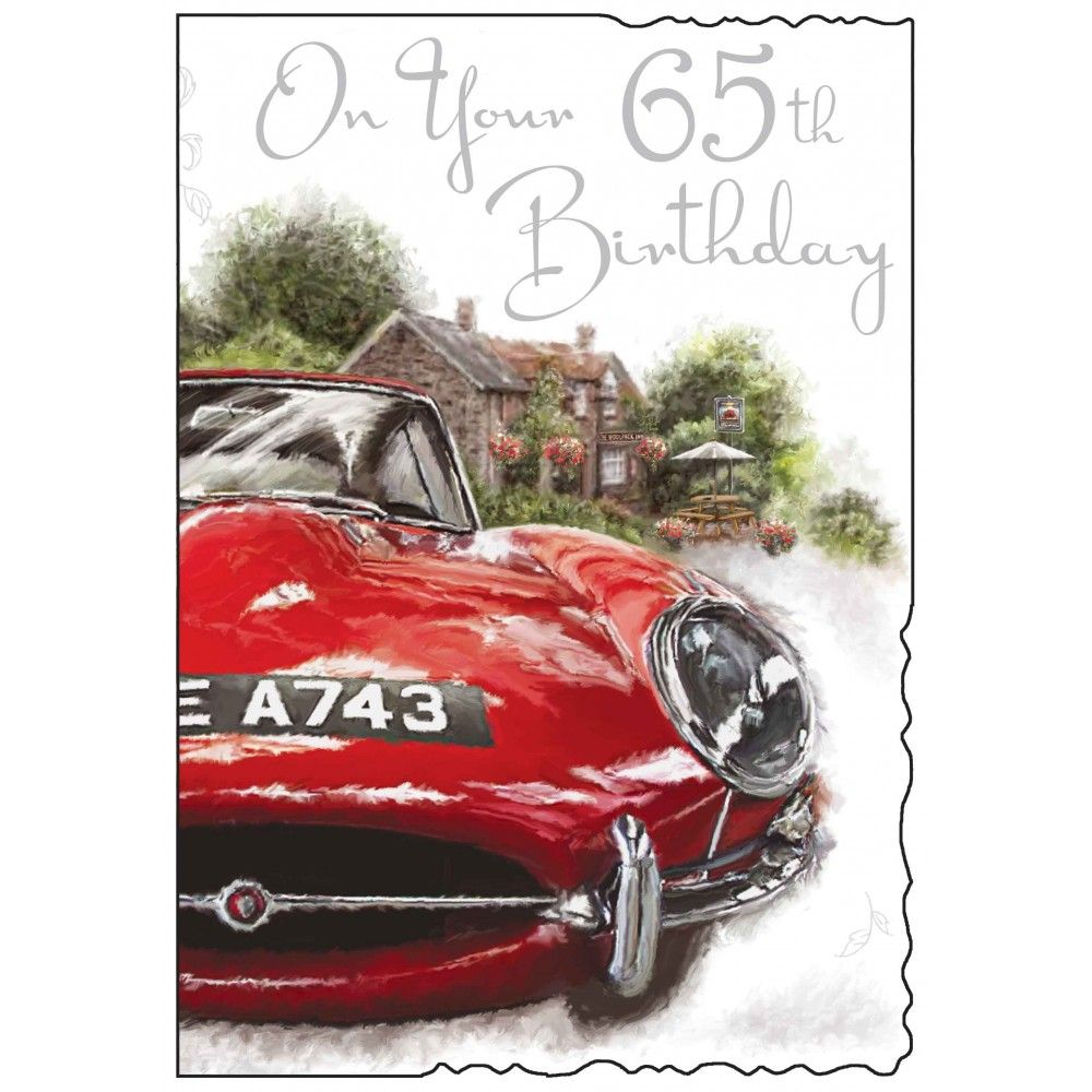 Male 65th Birthday Card