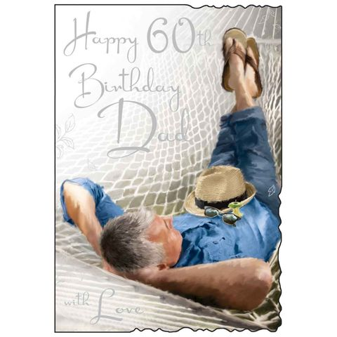 Dad,60th,Birthday,Card,buy dad 60th birthday card online, 60th birthday card for dad, cards for dads, sixtieth birthday card, large 60th birthday card for dad, luxury age 60 card for dad, dad's 60th card, age sixty card