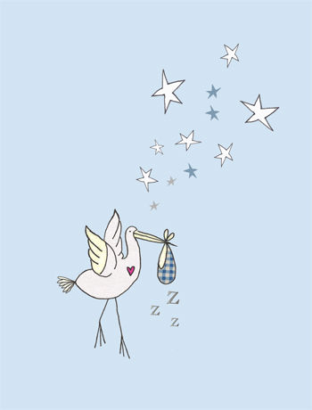 Pack,of,5,Blue,Stork,New,Baby,Cards,buy baby announcement cards online, buy baby present thank you cards online, baby gift thank you cards, pack of 5 baby thank you cards, christening thank you cards, naming day thank you cards, baptism thank you cards, baby shower thank you cards, baby boy