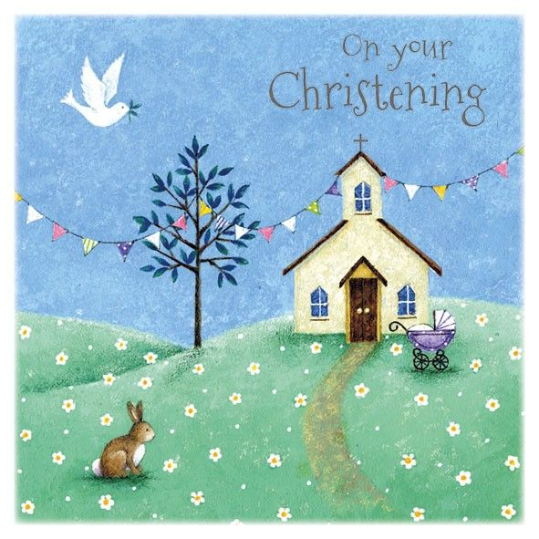 Church & Pram On Your Christening Card - product images