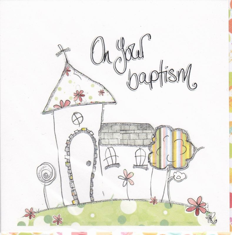 Hand Finished Baptism Card - product images  of