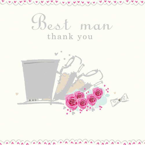 Handmade Best Man Thank You Card - Karenza Paperie