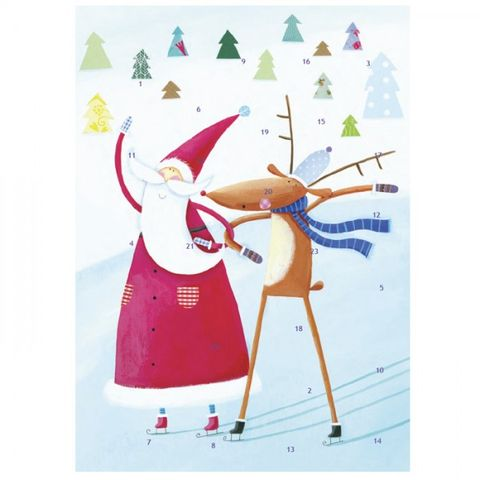 Traditional,Advent,Calendar,-,Father,Christmas,and,Rudolph,Design,buy advent calendars for children online, buy father christmas advent calendar online, advent calendars for 2014, reindeer advent, rudolf advent calendar, buy advent calendar online, advent calendars for children, childs advent calendar, traditonal advent