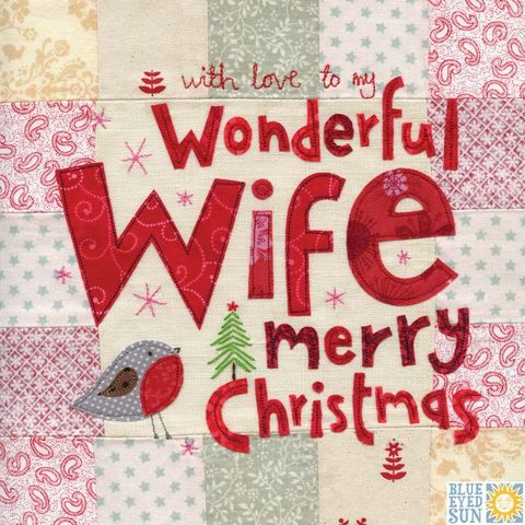 Wonderful,Wife,Christmas,Card,-,Large,,luxury,buy wife christmas card online, buy christmas cards for wives, buy bird christmas card for wife, to the one i love christmas card, partner christmas card, cards for wives