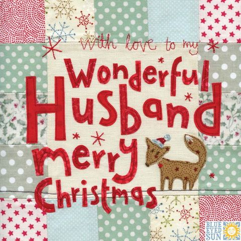 Wonderful,Husband,Fox,Christmas,Card,-,Large,,luxury,buy husband christmas card online, buy christmas cards for husbands online, partner christmas card, hubby christmas card, retro christmas card for husband