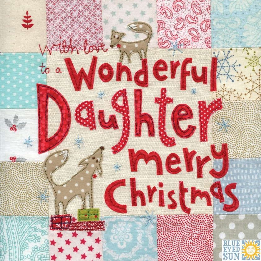 Merry Christmas To A Wonderful Daughter Blue Eyed Sun Christmas Cards