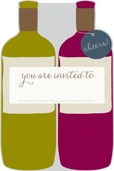 Pack of 10 Wine Bottles Invitations  - product images