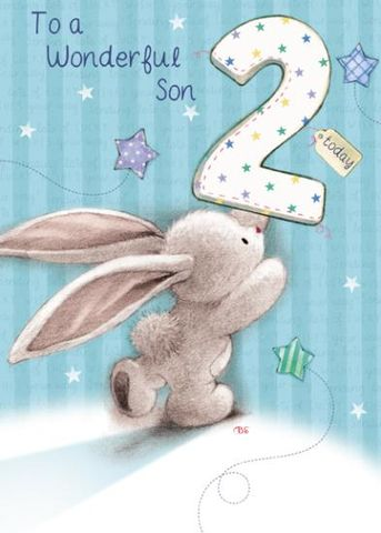 Bunny,Rabbit,Wonderful,Son,2nd,Birthday,Card,buy son 2nd birthday cards online with bunny rabbits, buy son second birthday card online, 2nd birthday cards for sons, baby son age two birthday card, 2nd birthday cards for son, baby son second birthday card, bebunni 2nd birthday card, Bebunni