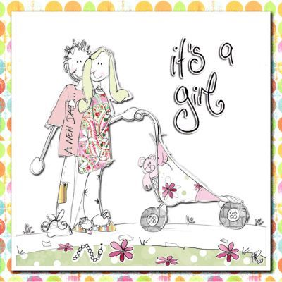 It's A Girl New Baby Card - product images